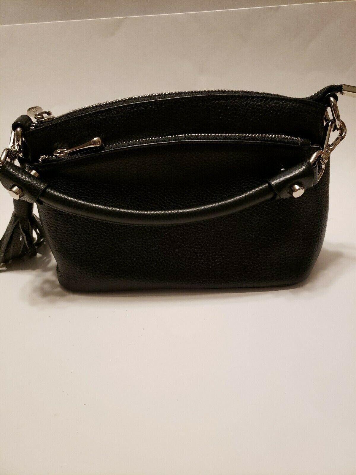 S-Zone Leather Handbag black