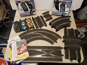Digital-Scalextric-Lot-of-Track-Lane-Change-Straight-Curved-Cars-Terminal