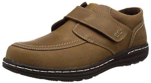 Para Inteligente hombres Cuero Bronceado Oscuro Riptape Hush Puppies Inteligente Para Informal Zapatos Vince Victory 52dc41