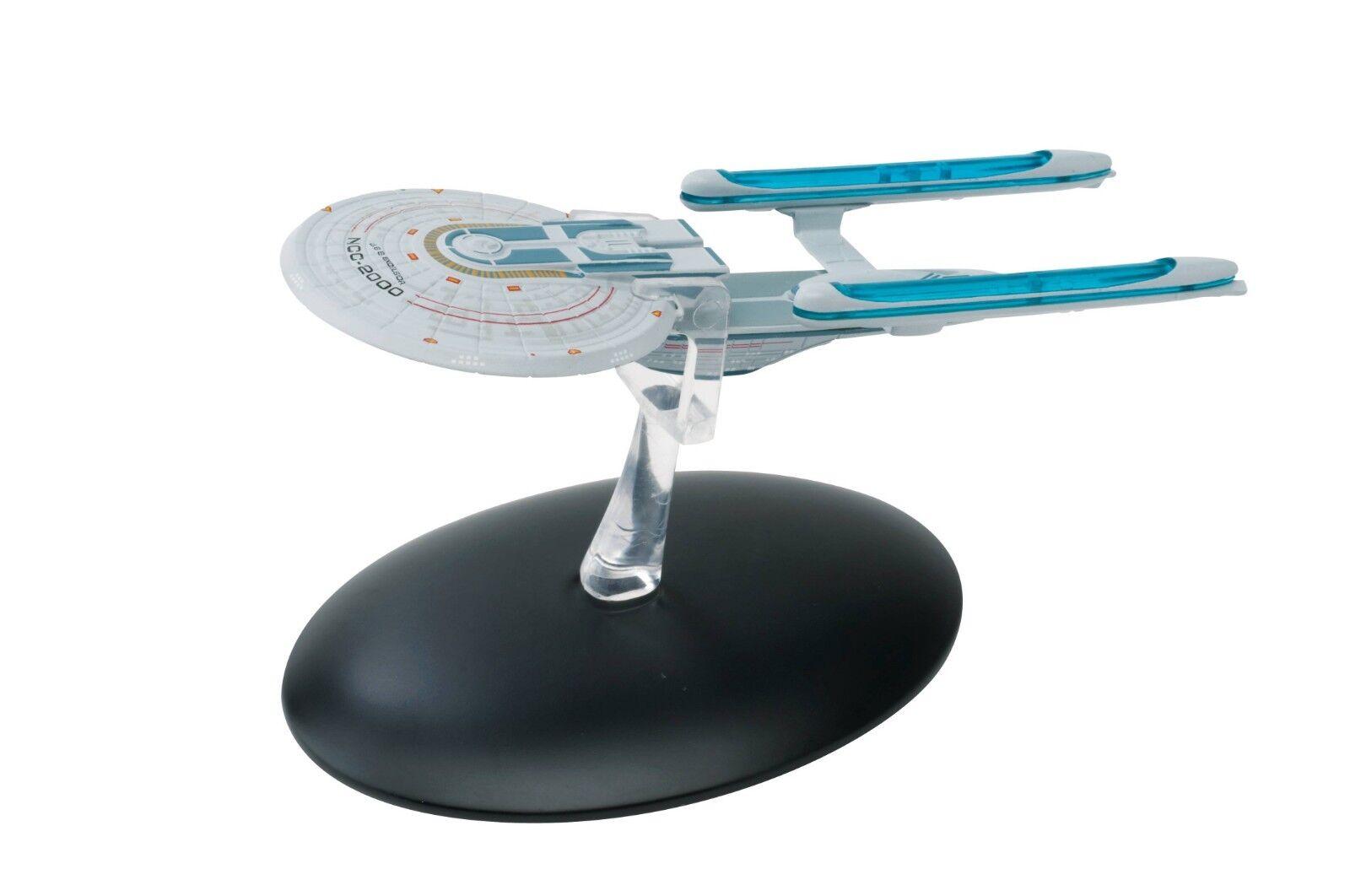 Star Trek Trek Trek Starship Collection USS Excelsior NCC-2000 + Magazine Eaglemoss NEW a5e345