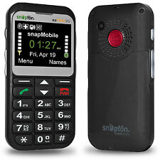 Snapfon ezTWO Senior Cell Phone, Easy to Use, SOS Button, UNLOCKED GSM