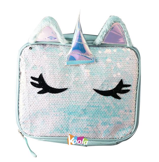 389ca86226f3 Magic Unicorn Sequin Insulated Lunch Box Tote Reversible Fashion Cool Bag