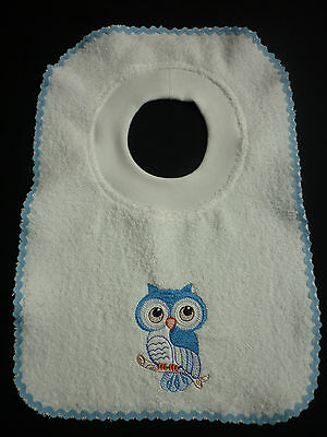 Baby Bibs & Burp Cloths Baby Hearty Babies Embroidered Towelling Bibs Collection Of *cute-owls* Designs Sew-ezy-aust
