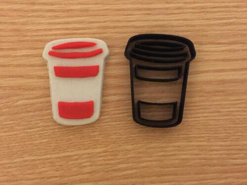 Coffe Cappuccino Latte Cup Cookie Cutter Set Fondant cake decorating