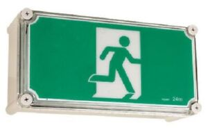 Legrand-LED-WEATHERPROOF-EXIT-SIGN-LEG684650-2x1W-Running-Man-IP65-Rated-Green