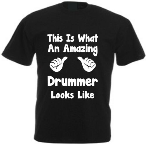 THIS IS WHAT AN AMAZING DRUMMER T-SHIRT Cotton Musician Instrument Player