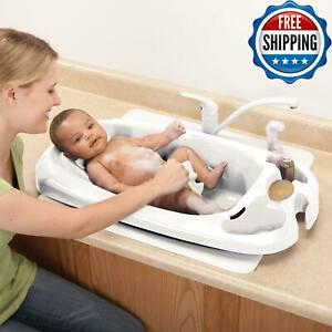 Bathing-Infant-Child-Toddler-Bath-Tub-Newborn-Shower-Anti-Slip-Safety-Kids-White