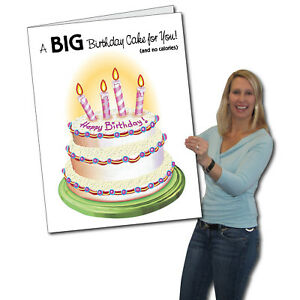 Image Is Loading Giant Birthday Cake Card 2 039 X 3
