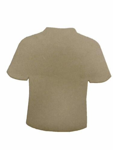 3mm wooden Mdf T-Shirt football kids plaque bedroom wall craft blank shape E218