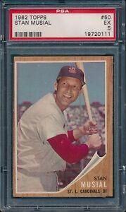1962-Topps-Baseball-Stan-Musial-50-PSA-5-CARDINALS-EX-HOF
