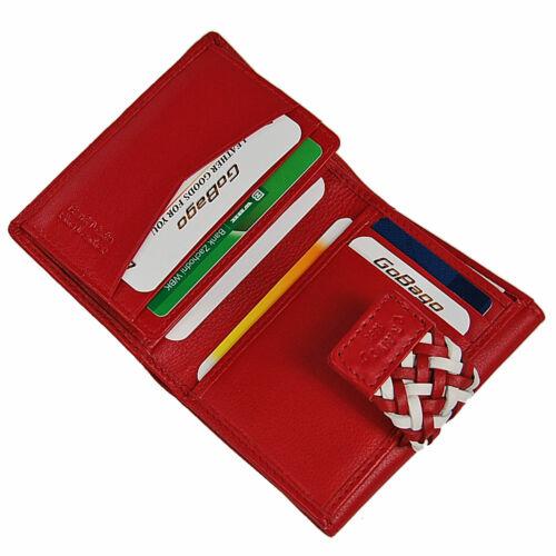 Branco piccoli Portafoglio donna in vera pelle portafoglio RFID da Donna Borsa Borsa valori 56991