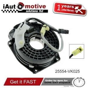 25554-VK025-Clock-Spring-Spiral-Cable-Squib-For-Nissan-Navara-D22-Pathfinder