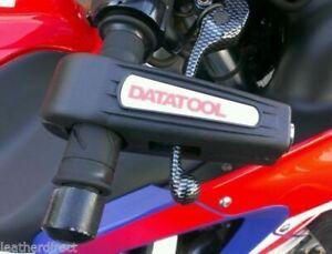 DATATOOL CROC-LOCK MOTORCYCLE YELLOW HANDLEBAR THROTTLE GRIP LOCK SECURITY BLACK
