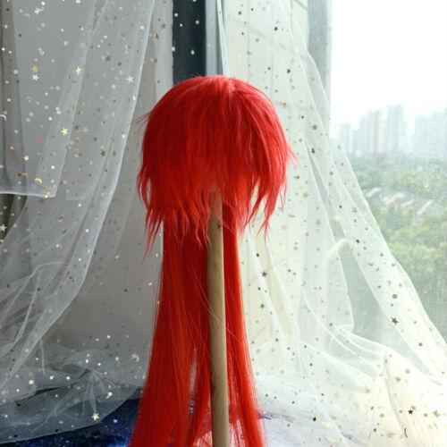 1//3 RL 1//4 1//6 BJD Wig Long Straight Hairy Cartoon//Comic Style Doll Hair Red #3