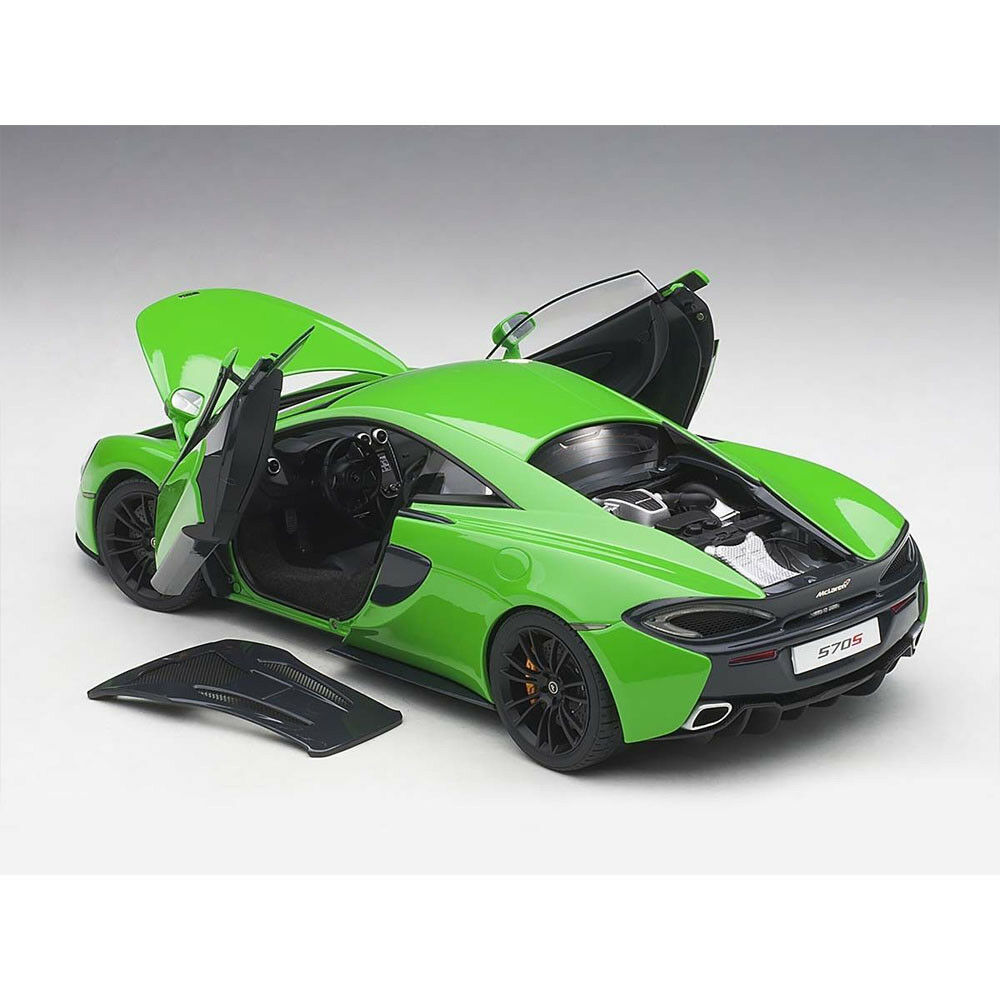 Mercancía de alta calidad y servicio conveniente y honesto. Mclaren 570S Mantis verde Negro Ruedas en 1 18 18 18 Escala de Autoart  descuento de bajo precio