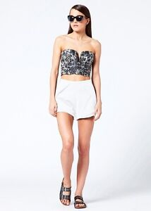 BNWT-SHAKUHACHI-MARBLE-LEATHER-BUSTIER-TOP-RRP-250