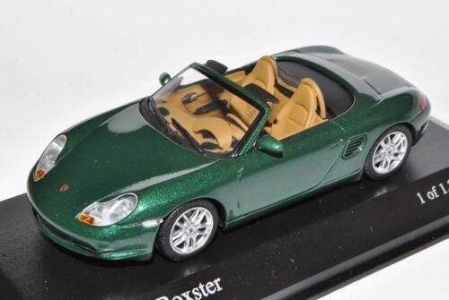 Porsche Boxster S Cabrio Grün 986 1996-2004 1//43 Minichamps Modell Auto mit od..