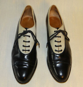 Robert-Clergerie-Vintage-80s-2-Tone-Oxfords-Leather-and-Fabric-8-Made-in-France