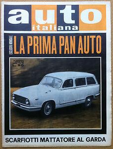 Auto Italiana - 1962 n° 19 - la prima PAN Auto - New York - meccanica corse - Italia - Auto Italiana - 1962 n° 19 - la prima PAN Auto - New York - meccanica corse - Italia