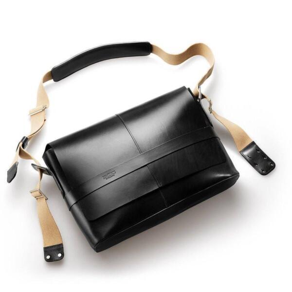 1fefe85dfbb Brooks Saddles Barbican Leather Messenger Bag Black for sale online | eBay