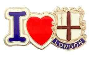 Heart I Love England Crest Quality enamel lapel pin badge T0157