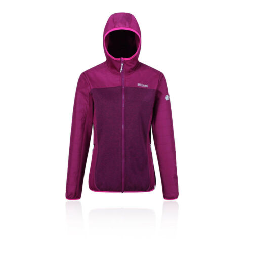 Regatta Femme Haska Hybride Veste Top-Violet Sports Outdoors Full Zip Chaud
