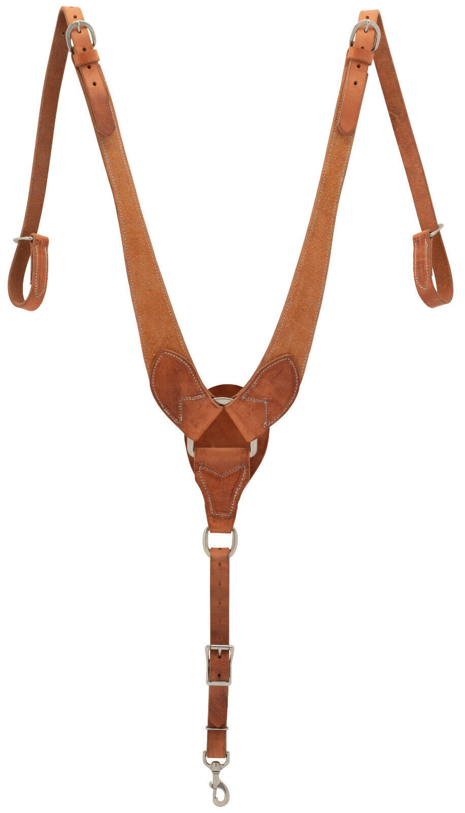 Weaver Leather Rough Out Russet Harness Leather Pulling Bröst Collar, 40 -1122