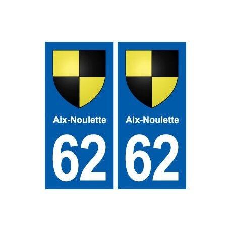 62 Aix-Noulette blason autocollant plaque stickers ville droits