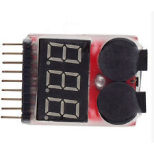 LED RC Lipo Li-ion Battery Low Voltage Meters Alarms Test Buzzer Monitor KB
