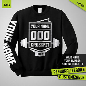 Felpa-CROSSFIT-Personalizzabile-Customizable-Maglia-Uomo-Man-Hoodie-Sweatshirt
