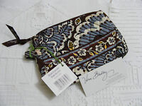 Vera Bradley Slate Blooms Small Cosmetic Jewelry Makeup Purse Backpack Tote