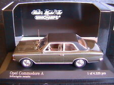 OPEL COMMODORE A 1966 BRITISHGRUN METALLIC MINICHAMPS 430046160 1/43 GREEN METAL