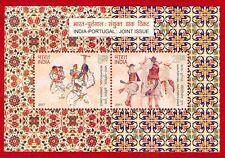 [156] Miniature Sheet India Portugal Joint Issue Dandiya Dance Music 2017 MNH