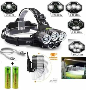 600000LM-5X-T6-LED-Headlamp-Rechargeable-Head-Light-Flashlight-Torch-Lamp-USA