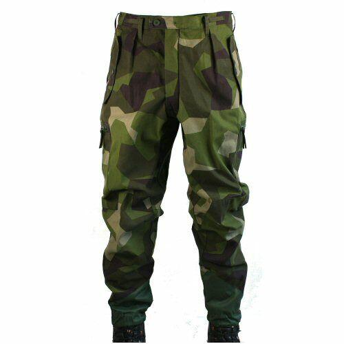 Unissued Swedish Army Jigsaw Camo Cargo Trousers Military Bushcraft