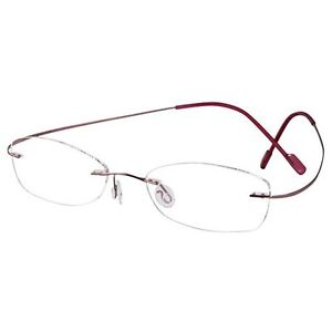3052aad1c86 Image is loading Womens-Mens-Pink-Titanium-Rimless-Reading-Glasses-Feather-