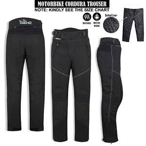 Motorbike-Motorcycle-Waterproof-Cordura-Textile-Trousers-Pants-Armours-BLACK