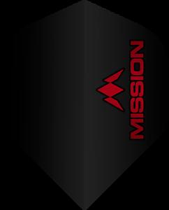 Flight 100 Micron No2 Red Logo Rot 1 Stück = 3 Flights Mission Dart