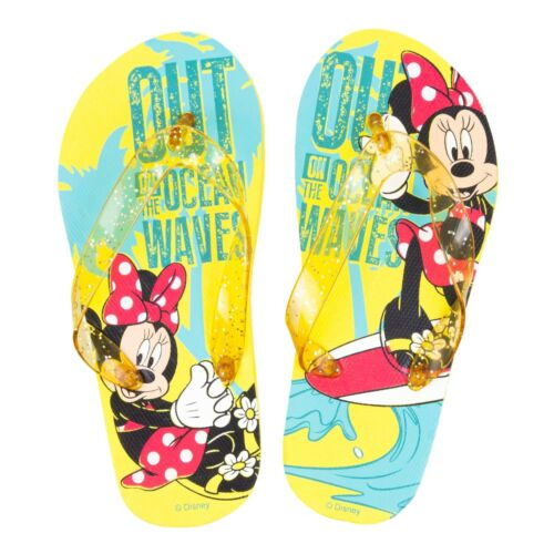 Disney Minnie Mouse Licensed Girl Flip Flops Beach Sandals Summer Shoes  11-2 UK