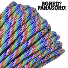 550 Paracord Rope 7 strand Parachute Cord 10 25 50 100 ft Mint