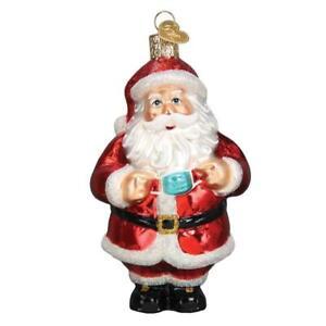 Old World Christmas SANTA REVEALED (40322)N Glass Ornament w/ OWC Box