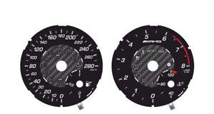 Custom speedometer instrument cluster gauge faceplate overlay Mercedes Benz W126