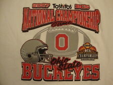 NCAA Ohio State Buckeyes College University Football Fan 2007 Champs T Shirt XL