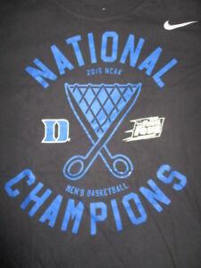 d3684f9fcb92 Details about 2015 Nike NCAA Men s FINAL FOUR DUKE BLUE DEVILS Champions  (LG) T-Shirt