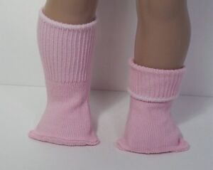 "PINK Basic Anklet Bobby Socks Doll Clothes For 18"" American Girl (Debs)"