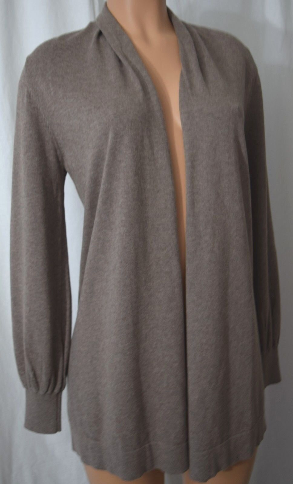 REPEAT Cotton Viscose Brown Knitted Cardigan Size 38