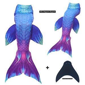 Costume Tail Siren Monofin Swimming Girl Woman Swimsuit Mermaid Tail