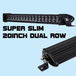 20inch super slim cree single row led light bar combo beam 6000k image is loading 20inch super slim cree single row led light aloadofball Images
