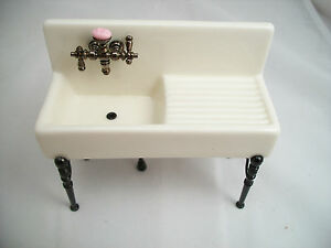 dollhouse furniture 1 12 scale. Exellent Dollhouse Image Is Loading KitchenSinkporcelain18410miniaturedollhouse With Dollhouse Furniture 1 12 Scale S