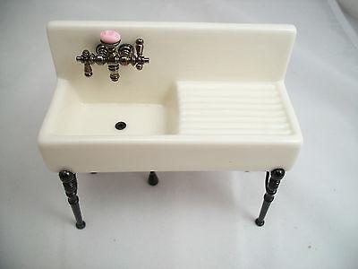Dollhouse Kitchen Sink Kitchen sink porcelain 18410 miniature dollhouse furniture 112 kitchen sink porcelain 18410 miniature dollhouse furniture 112 scale reutter workwithnaturefo